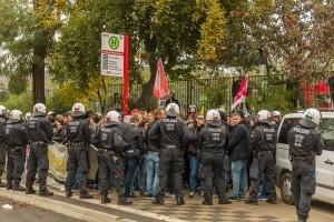 Polizei geht mit übertriebene Härte gegen Antifa vor